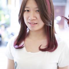 粉霧紫雙色染