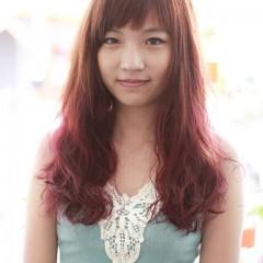 橘紅漸層捲髮