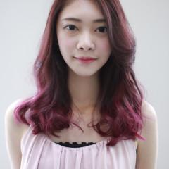 紫紅漸層染
