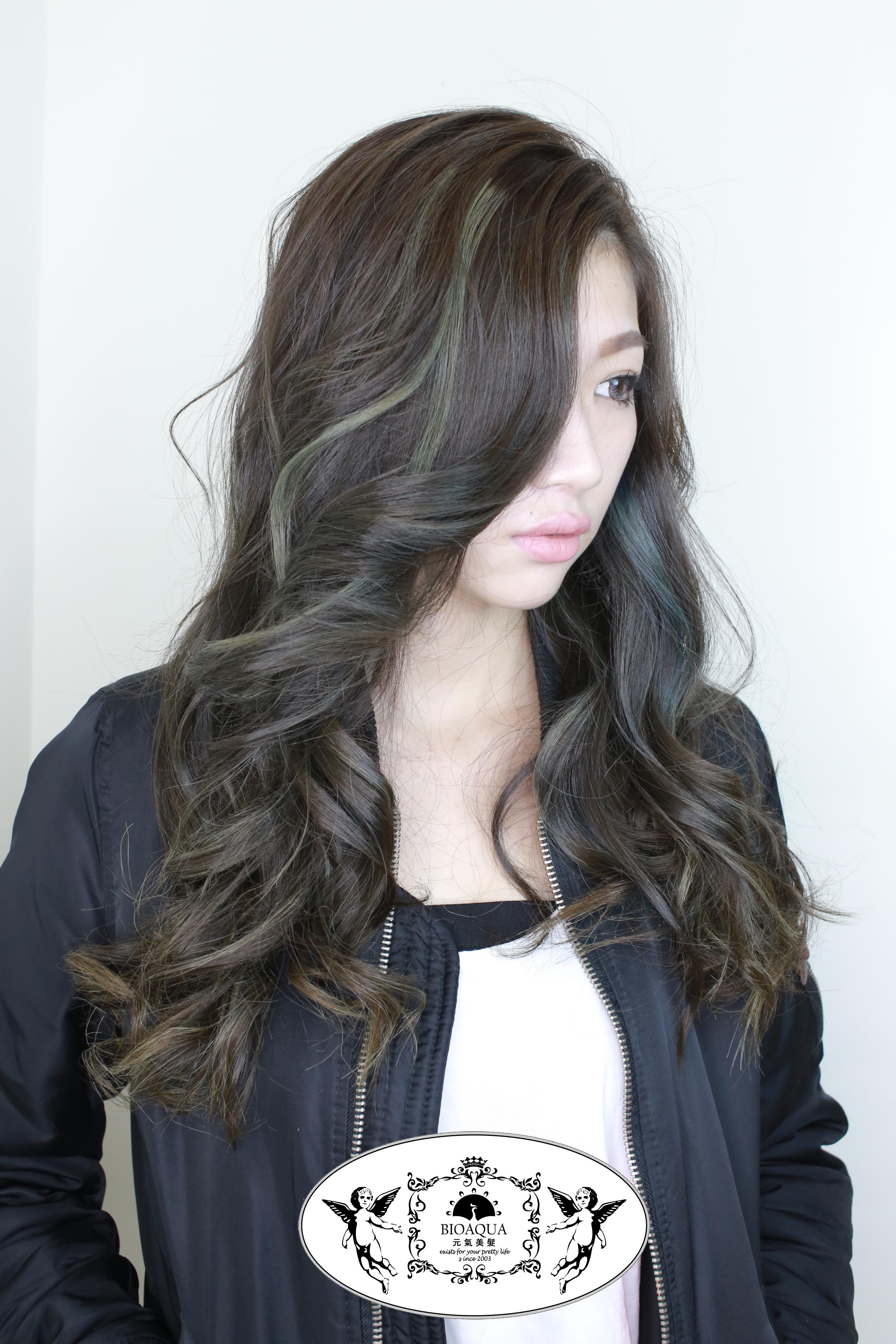 灰棕色設計染 台中染髮