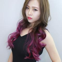 亞麻漸層紫色調