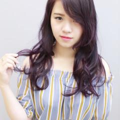 深紫色調質感髮色