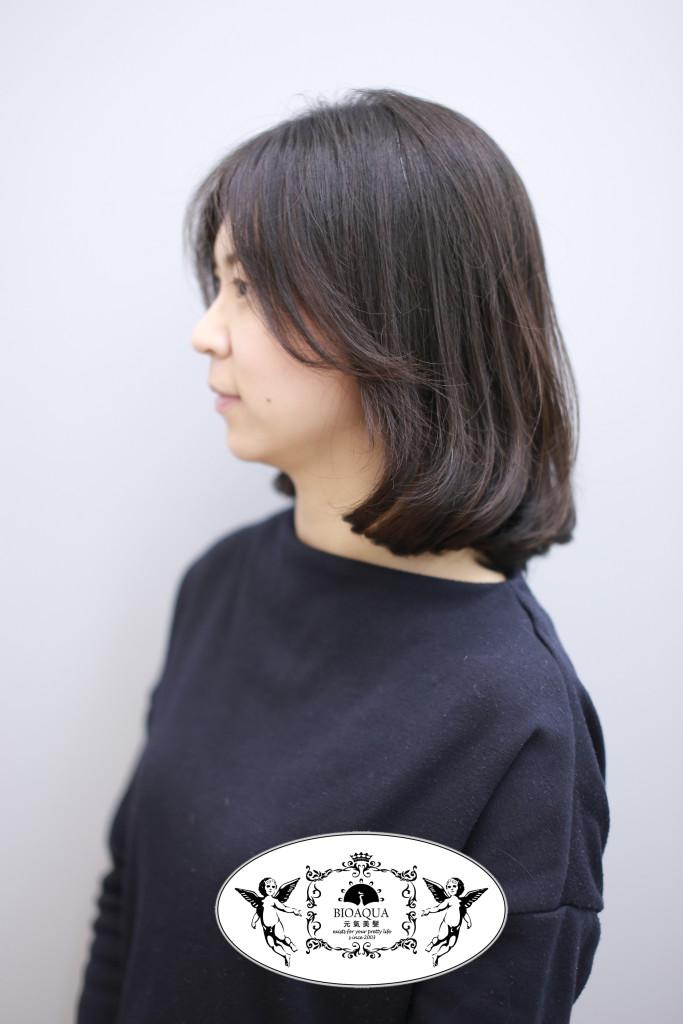髮尾C彎BOB頭 台中燙髮推薦 資生堂水質感 - 台中髮廊 元氣美髮