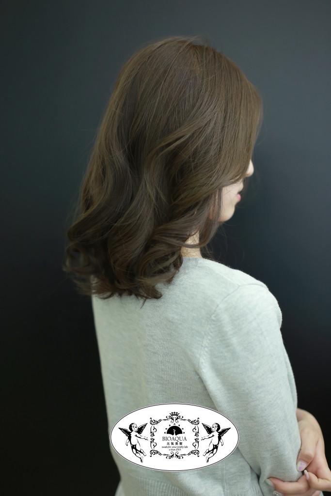 粉霧色調 橄欖綠棕色 台中染髮推薦  - 台中西區髮廊 bioaqua元氣美髮
