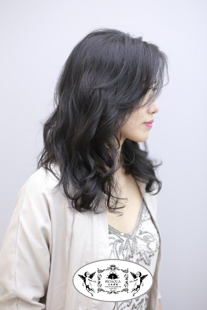 微亂蓬鬆波浪捲 台中燙髮推薦資生堂水質感燙 - 台中髮廊 元氣美髮