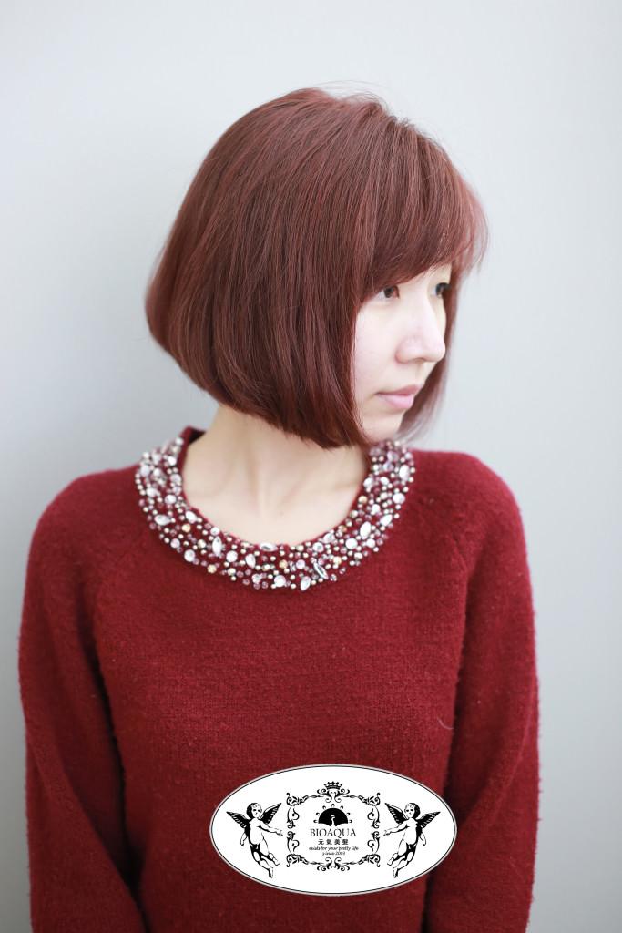 暖棕色調BOB頭 台中染髮推薦 - 台中髮廊 bioaqua元氣美髮