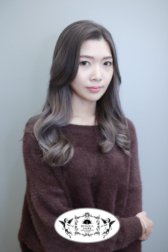 奶茶灰色手刷染 台中染髮推薦 - 台中髮廊 元氣美髮