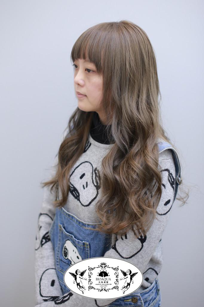冷灰棕色調 霧感髮色 台中染髮推薦 - 台中髮廊 bioaqua元氣美髮