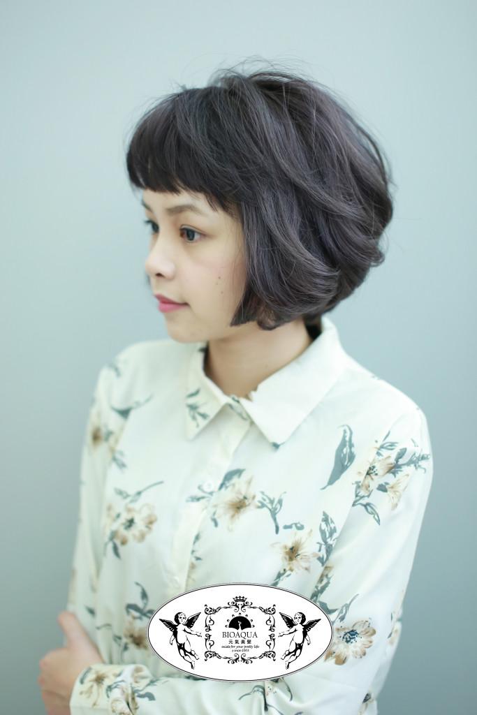 霧感深紫灰色 台中染髮推薦  - 台中髮廊 bioaqua元氣美髮