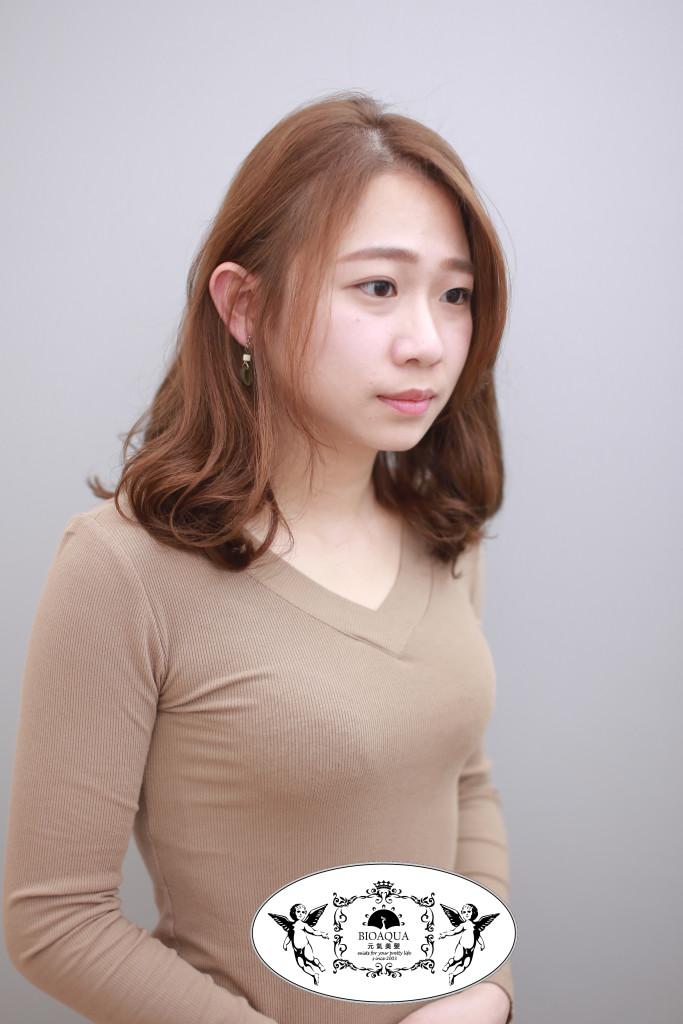 台中燙髮推薦 資生堂水質感捲髮 手繞燙 髮妝燙 中長髮