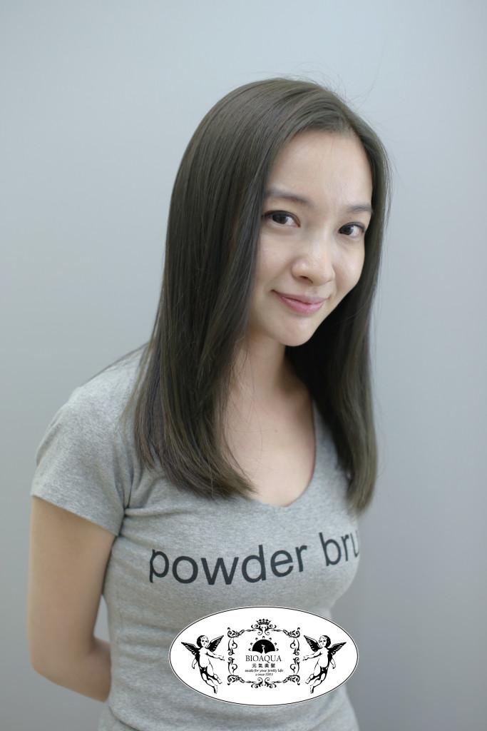 霧感髮色 灰綠棕色 台中染髮推薦 - 台中髮廊 元氣美髮
