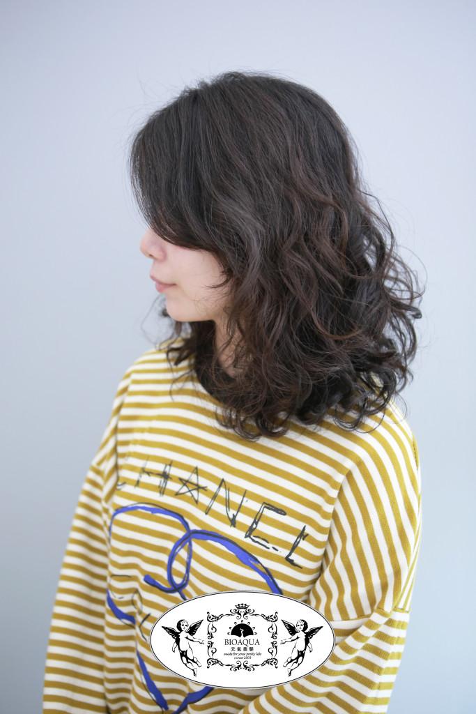 資生堂水質感 捲髮 台中燙髮推薦 - 台中髮廊 bioaqua元氣美髮