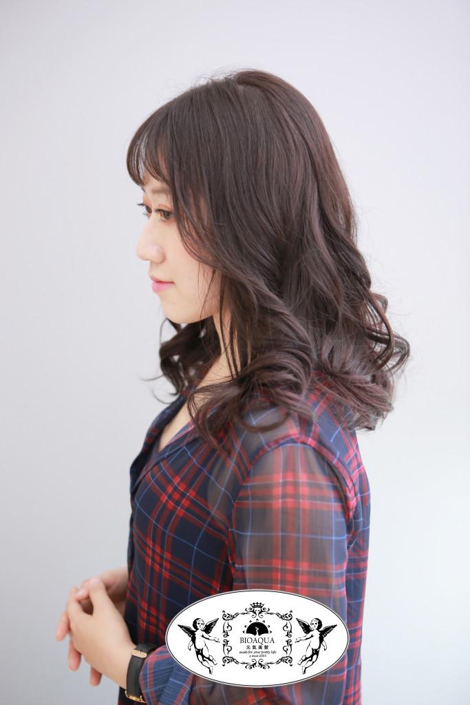 霧感深灰紫棕色 台中染髮推薦 - 台中髮廊 Bioaqua元氣美髮
