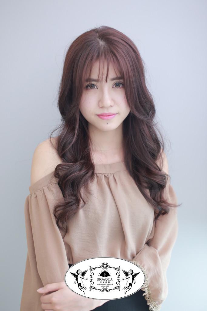 氣質版粉紫棕色 台中染髮推薦 - 台中髮廊 bioaqua元氣美髮