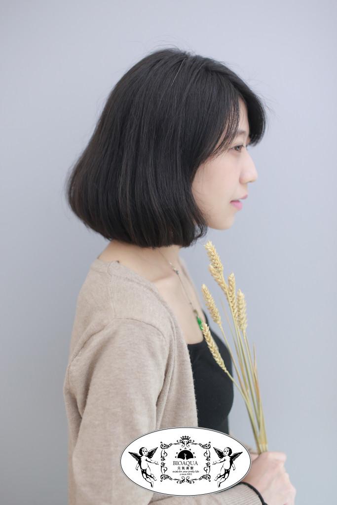 C彎鮑伯頭 BOB 台中燙髮推薦 - 台中西區髮廊 bioaqua元氣美髮