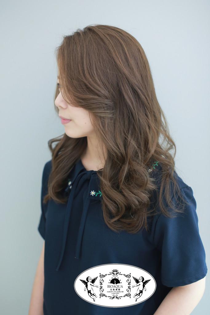 雜誌感灰棕色 台中染髮推薦 - 台中髮廊 bioaqua元氣美髮