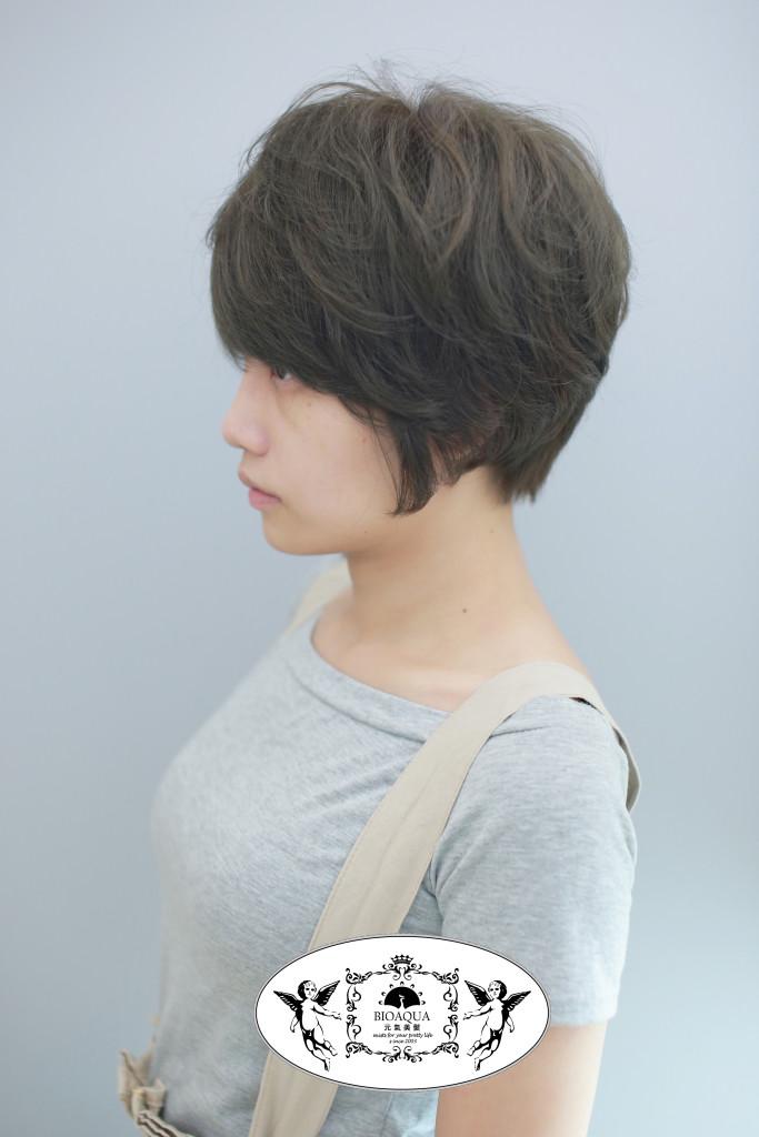 空氣感短髮&霧感灰棕色 台中染髮推薦 - 台中髮廊 元氣美髮