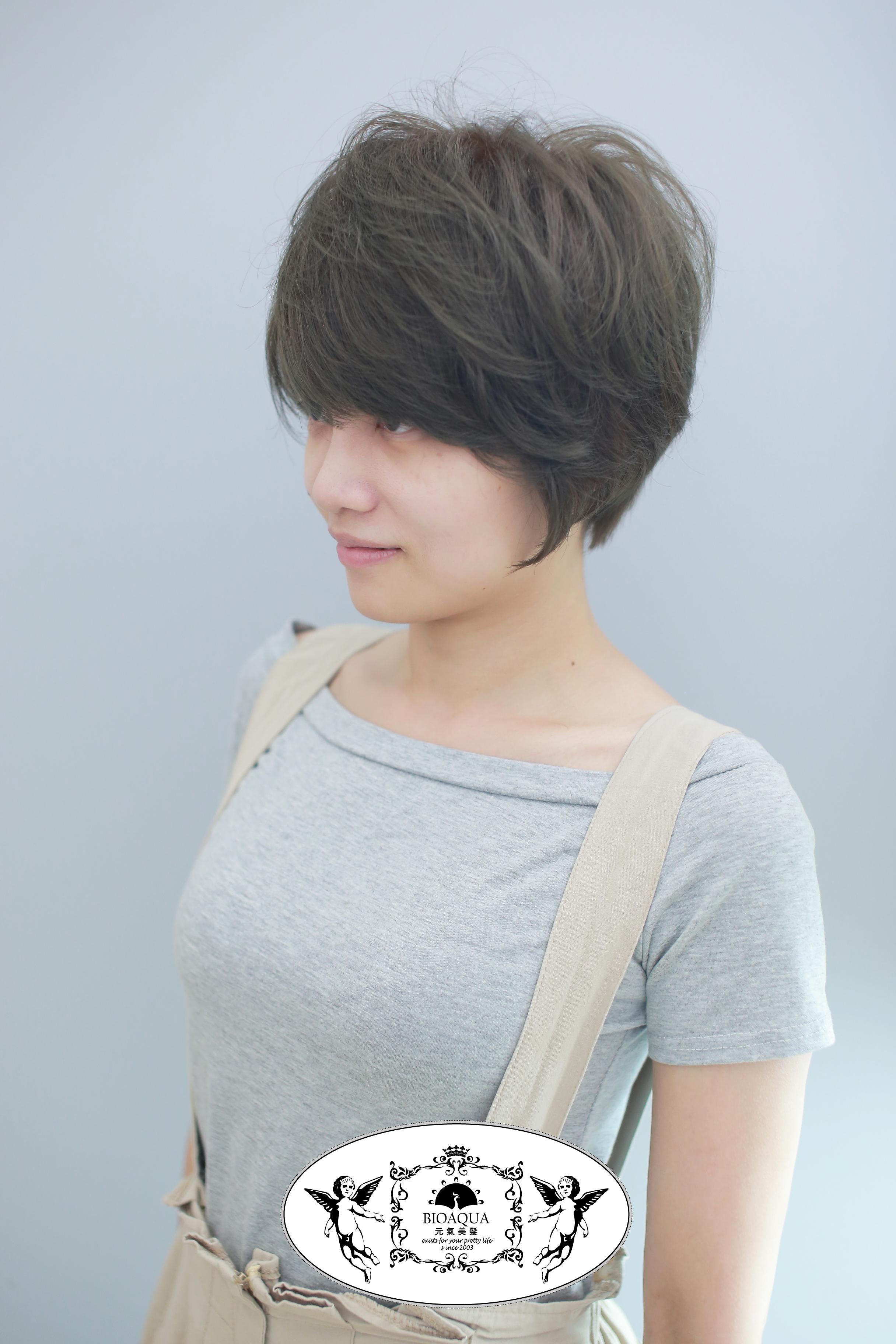 空氣感短髮&霧感灰棕色