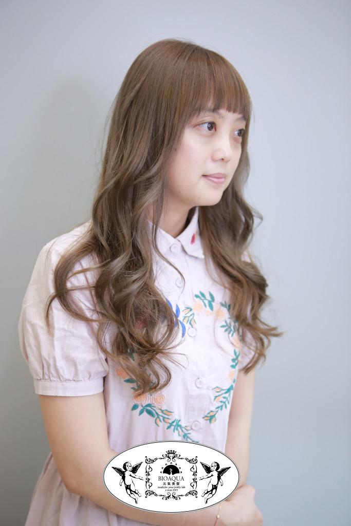 淺灰奶茶色調 台中染髮推薦 - 台中髮廊 bioaqua元氣美髮