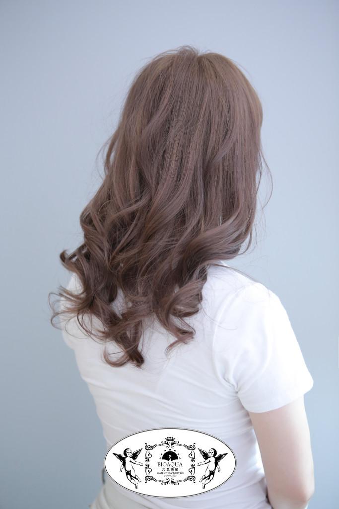 奶茶粉霧紫色 霧感髮色 台中染髮推薦 - 台中髮廊 元氣美髮