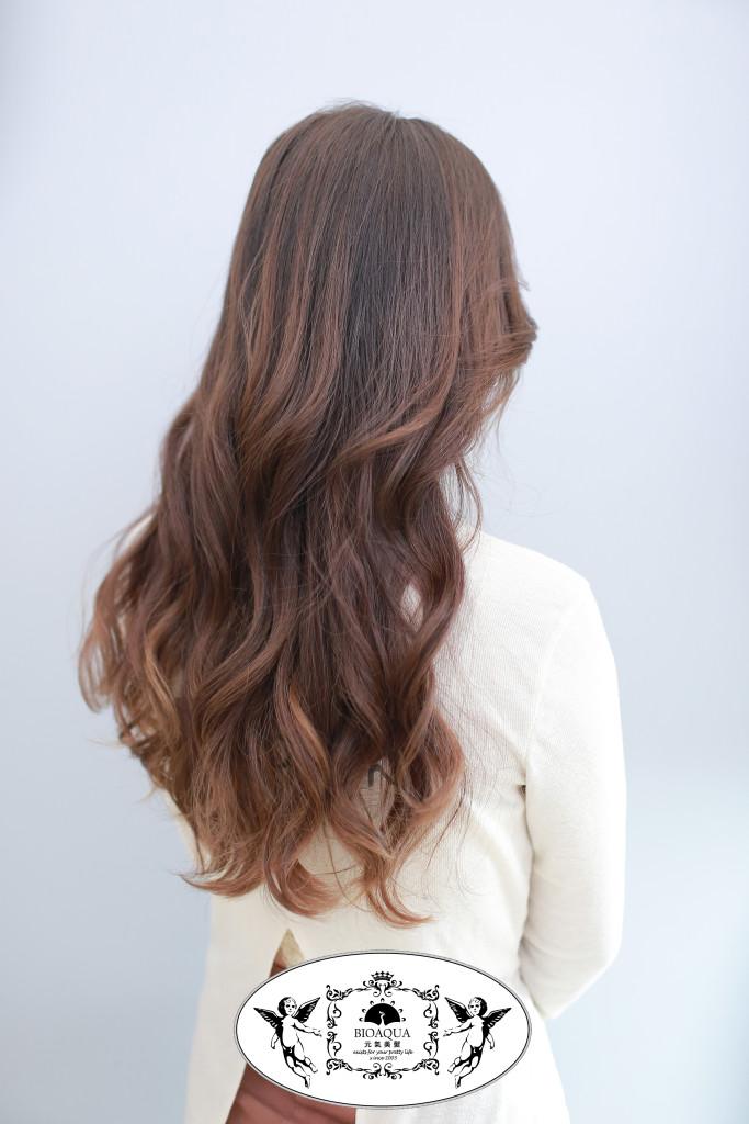 柔美大波浪捲 台中燙髮推薦 - 台中西區髮廊 bioaqua元氣美髮