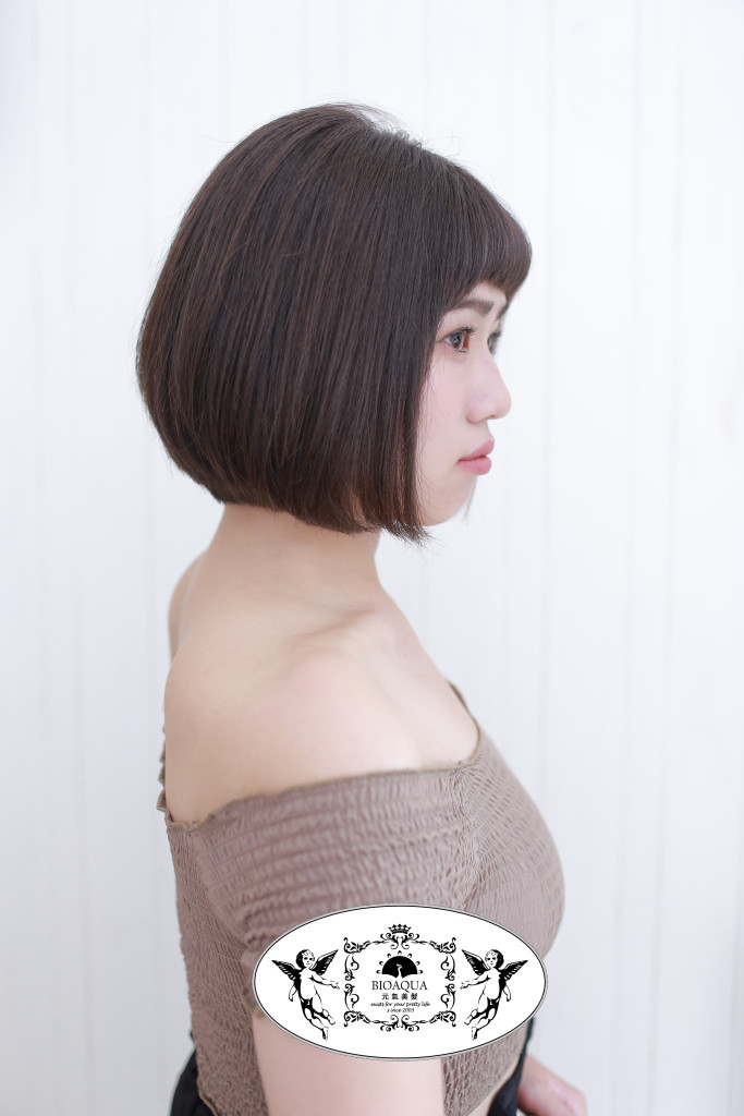 短瀏海BOB頭 台中髮型推薦 - 台中髮廊 bioaqua元氣美髮