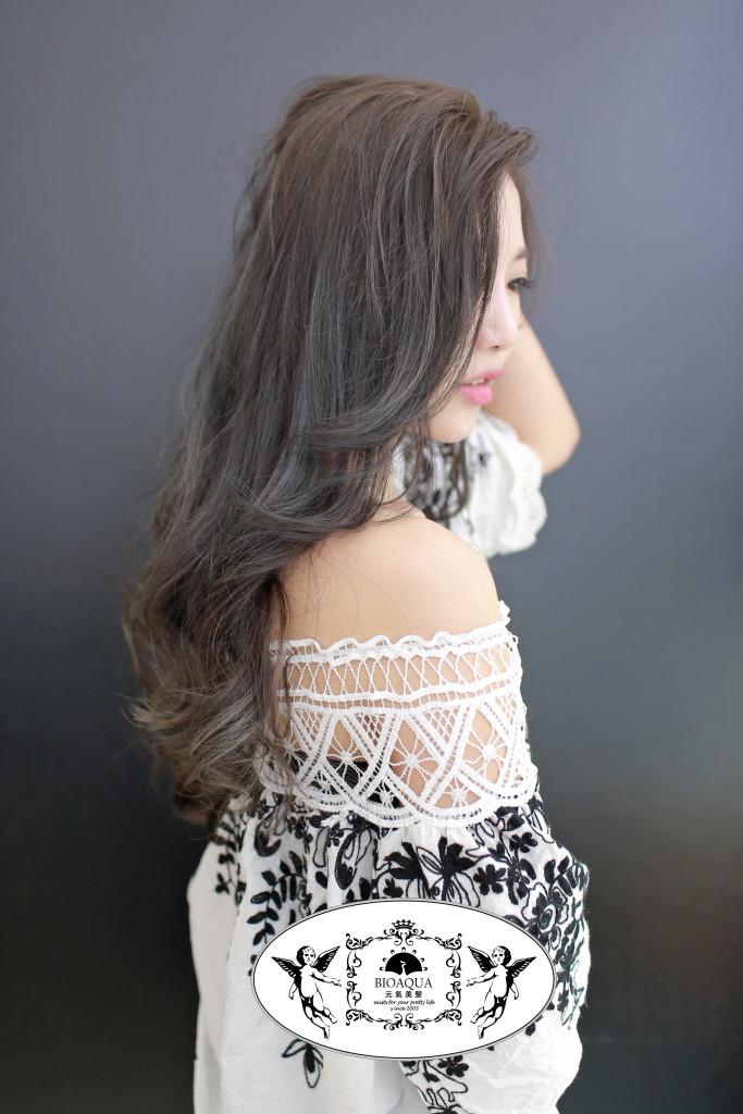 灰色&灰棕色 漸層挑染 台中染髮推薦 - 台中髮廊 元氣美髮