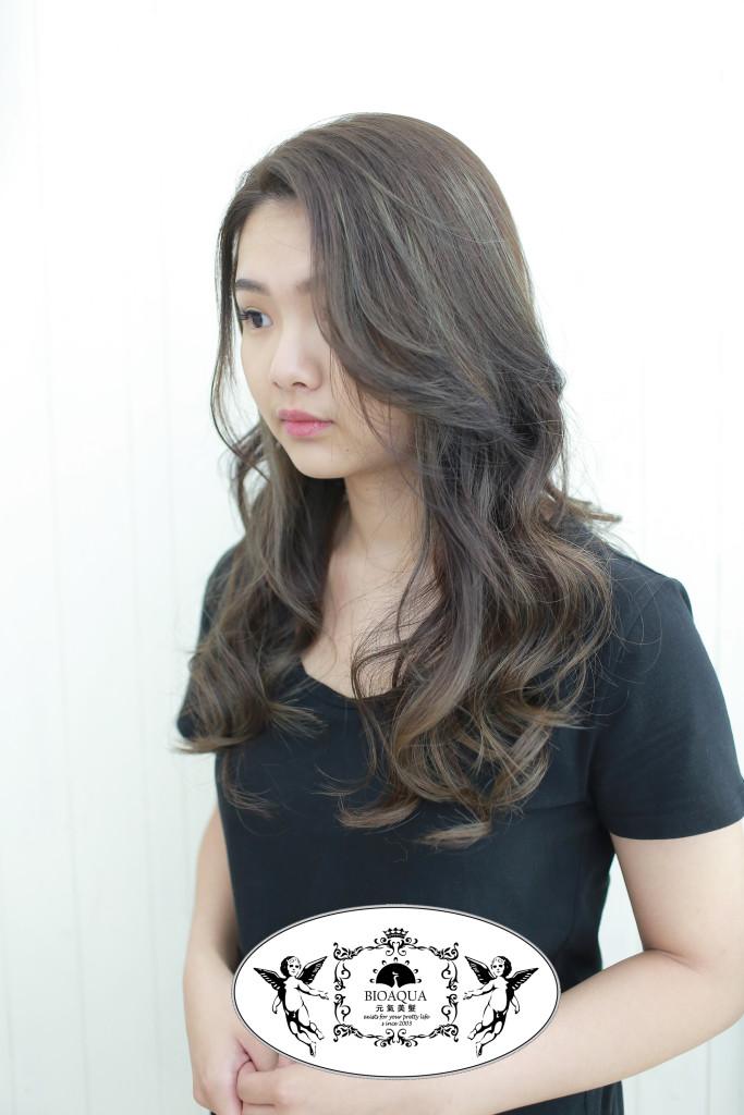 灰棕色系mix挑漂 台中染髮推薦 - 台中髮廊 bioaqua元氣美髮