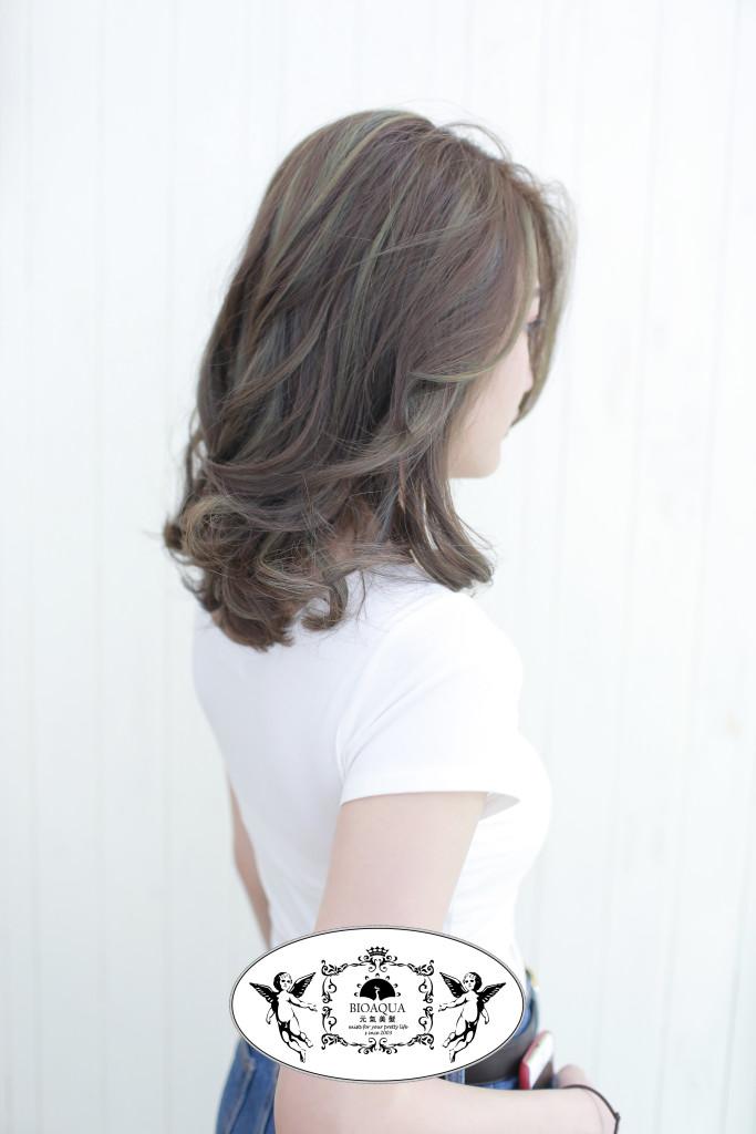 歐美風線條挑染+冷棕色調 台中染髮推薦 - 台中髮廊 元氣美髮