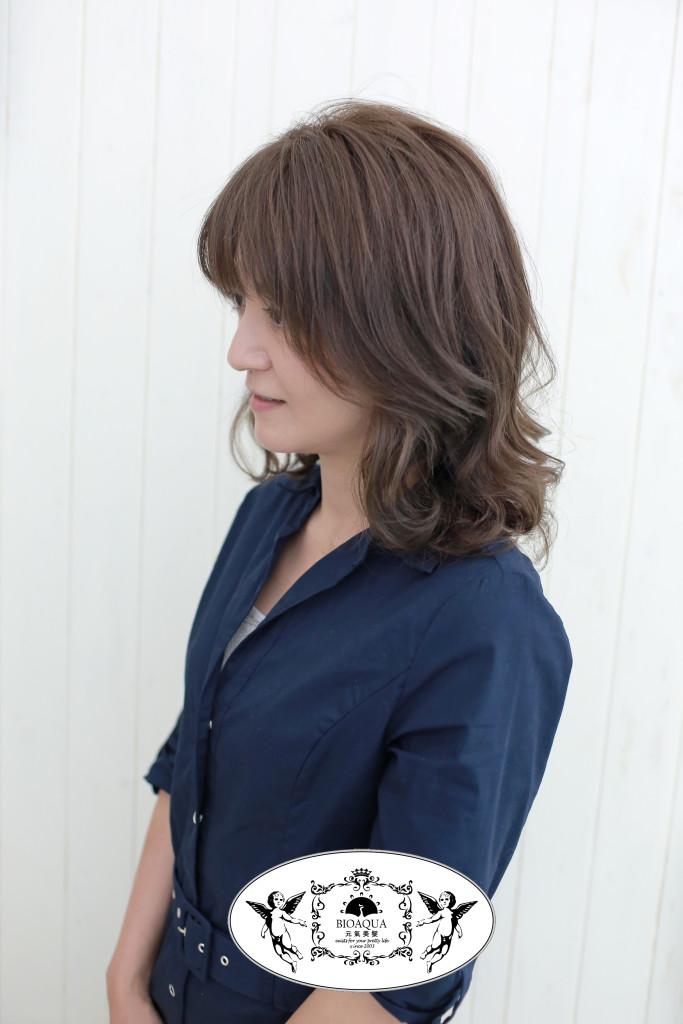 電棒風水繞燙+霧感冷棕色 台中燙髮染髮推薦 - 台中髮廊 元氣美髮