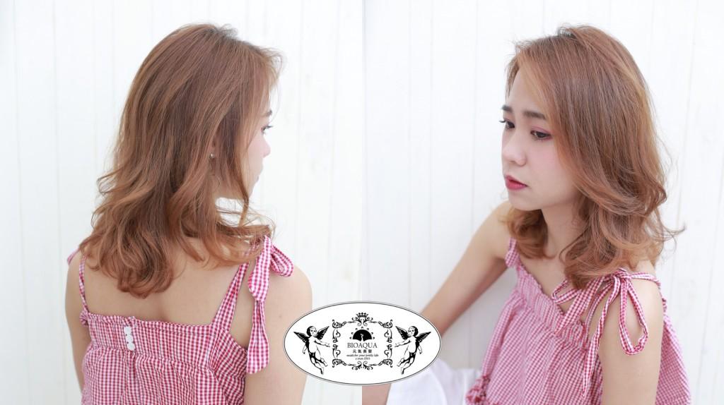 I台中燙髮推薦 台中髮廊 資生堂水質感燙 髮妝燙 手繞燙 bioaqua元氣美髮