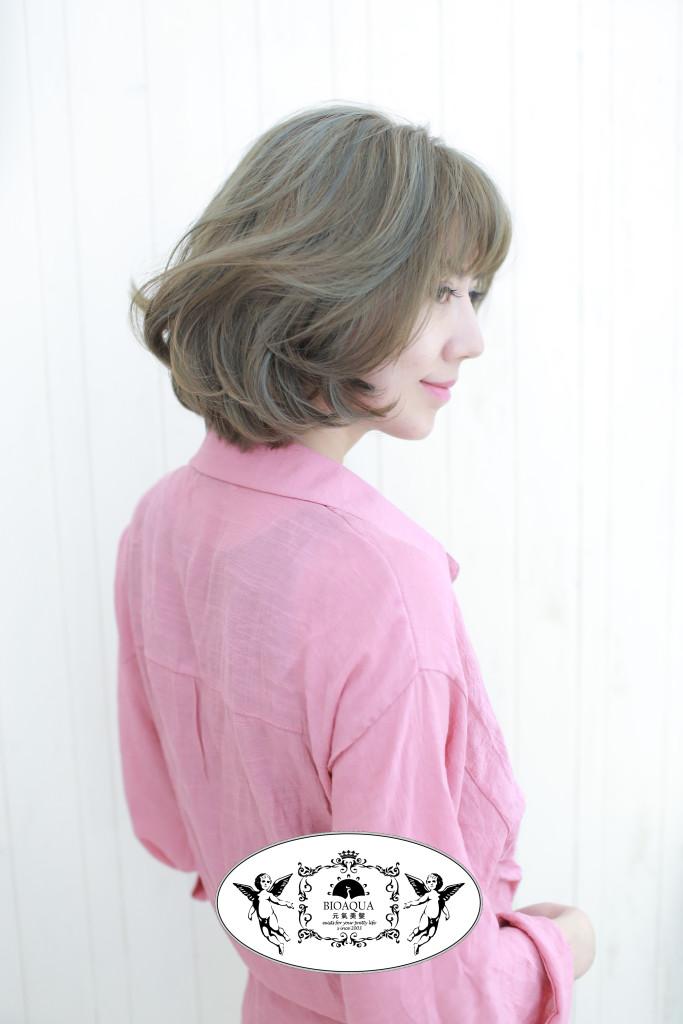 亞麻髮色+灰色線條挑染 台中染髮推薦 - 台中髮廊 元氣美髮
