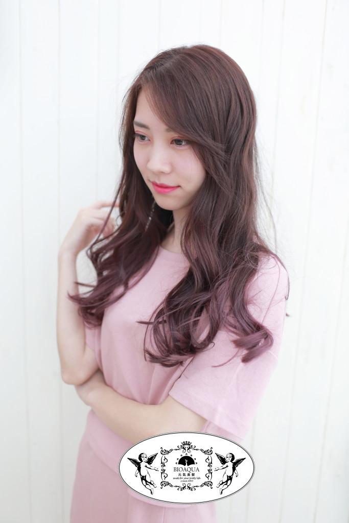 斑比髮色+粉紅色漸層染 台中染髮推薦 - 台中髮廊 元氣美髮