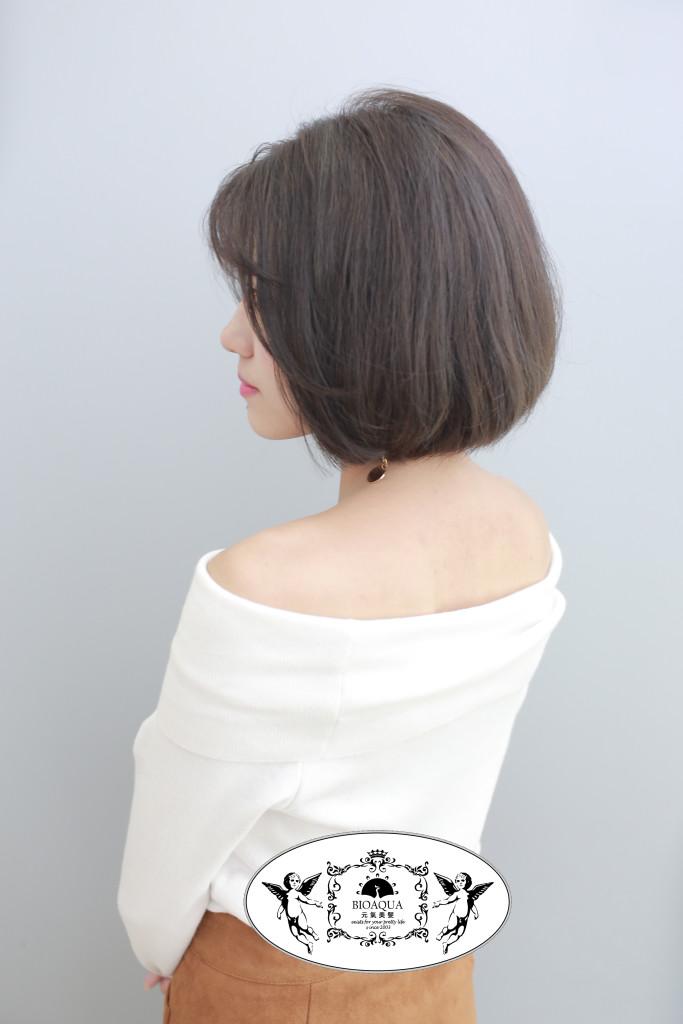 灰色挑染&深灰棕色 BOB頭 台中染髮推薦 - 台中髮廊 元氣美髮