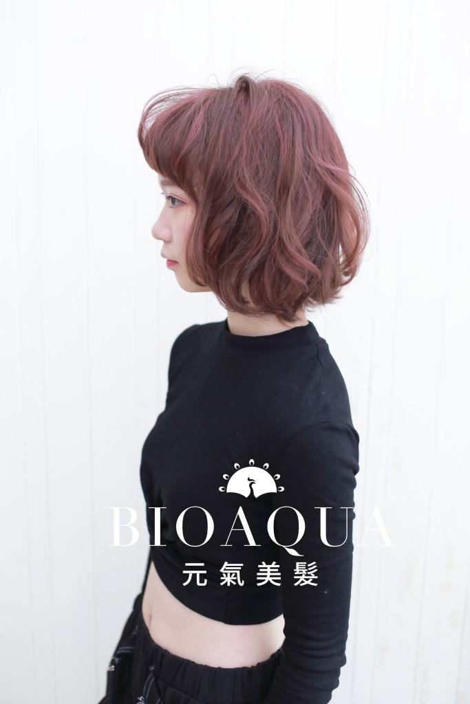 斑比髮色+粉紅色挑染 台中染髮推薦 - 台中髮廊 元氣美髮