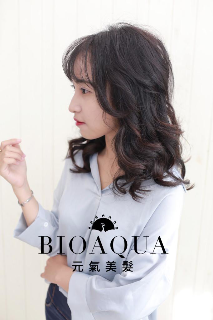 水潤Q彈捲髮 資生堂水質感 台中燙髮推薦 - 台中髮廊 元氣美髮