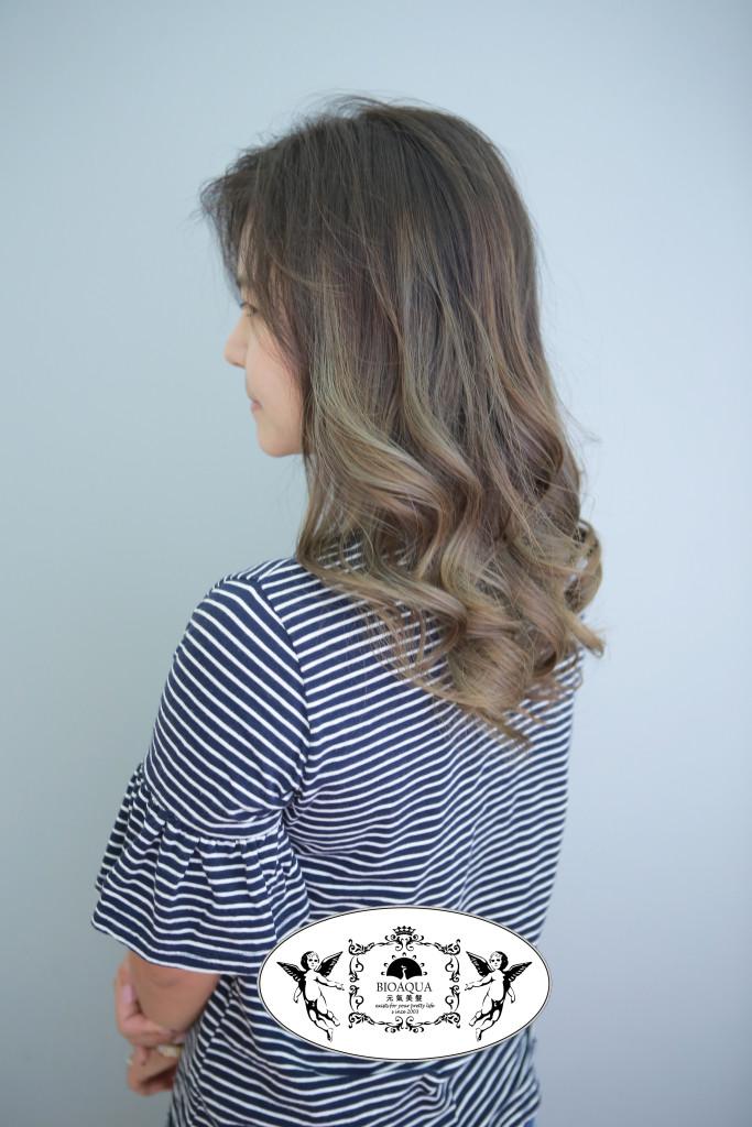 亞麻灰色調 歐美漸層挑染 台中染髮推薦 - 台中髮廊 元氣美髮