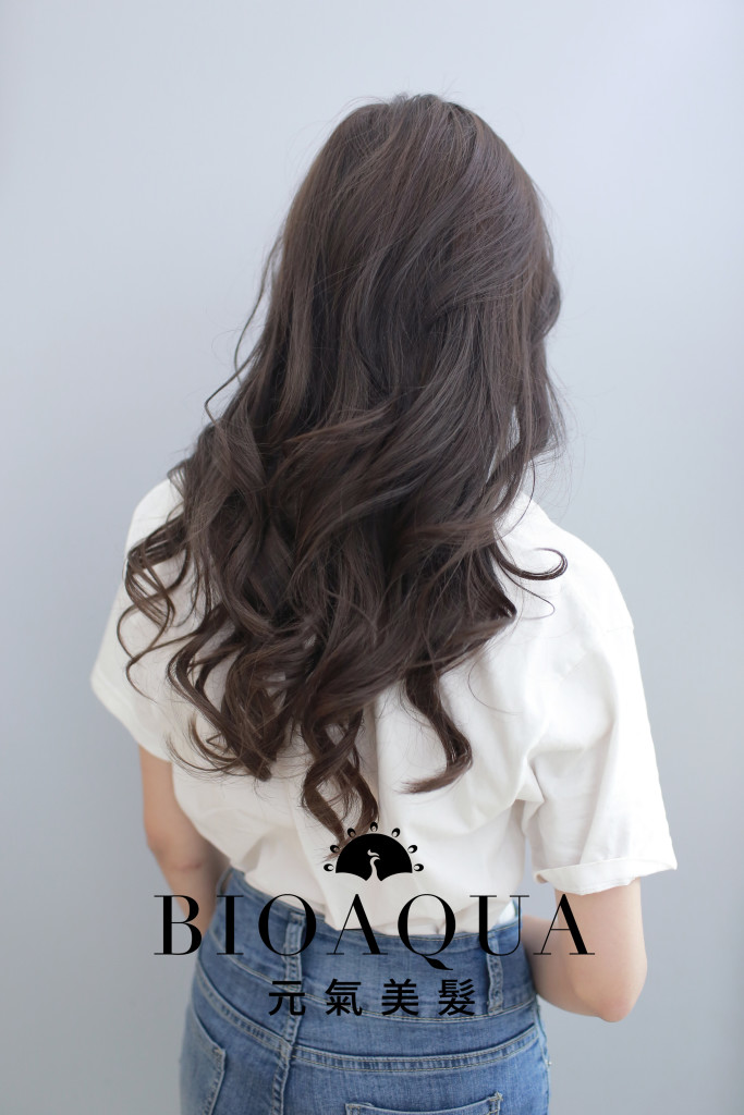 粉霧奶茶灰 台中染髮推薦 - 台中西區髮廊 Bioaqua元氣美髮