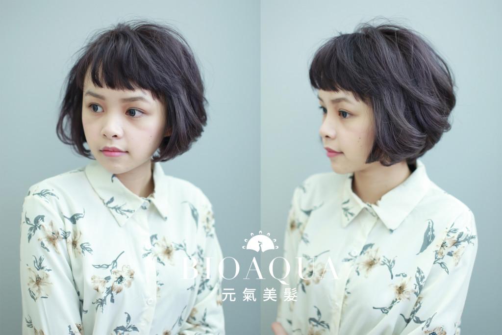 深灰紫色BOB 5種經典短髮&中短髮造型 推薦給妳! - 台中髮廊 元氣美髮