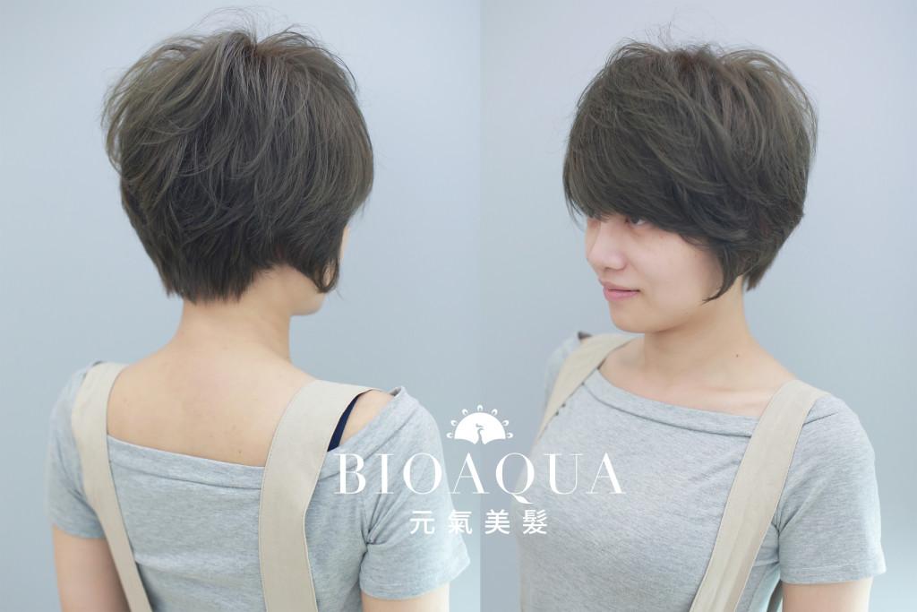 短捲髮+霧感灰綠色 5種經典短髮&中短髮造型 推薦給妳! - 台中髮廊 元氣美髮