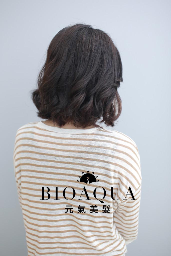 LOB外翻波浪捲 中長髮手繞燙 - 台中髮廊 元氣美髮