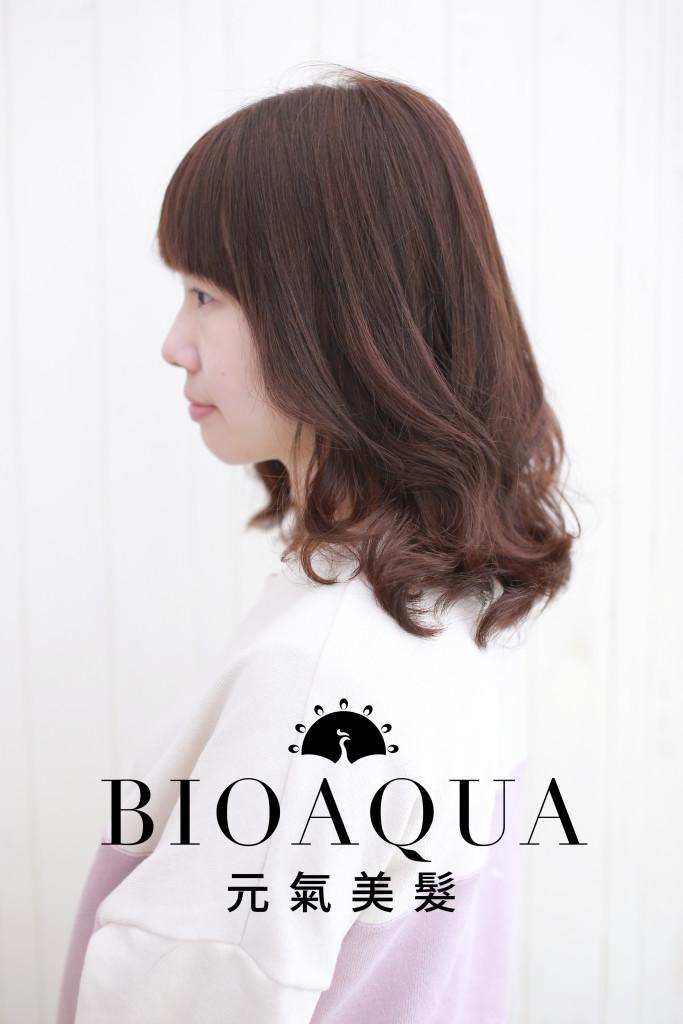 LOB電棒燙髮 資生堂水質感 - 台中髮廊 Bioaqua元氣美髮