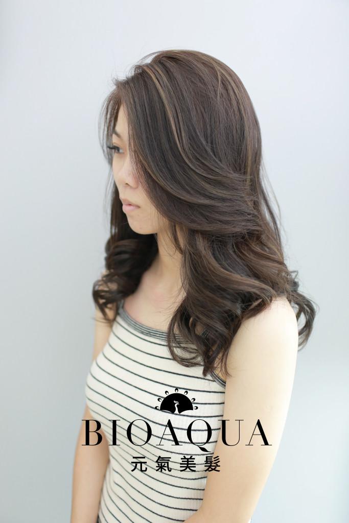 歐美線條挑染+霧感冷棕髮色 台中染髮推薦 - 台中髮廊 元氣美髮