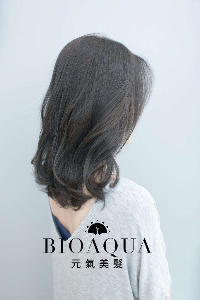 深灰棕色LOB 霧感髮色 - 台中髮廊 染髮推薦 元氣美髮