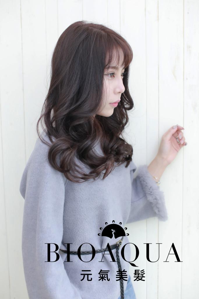紫霧巧克力髮色 台中染髮推薦 - 台中髮廊 元氣美髮