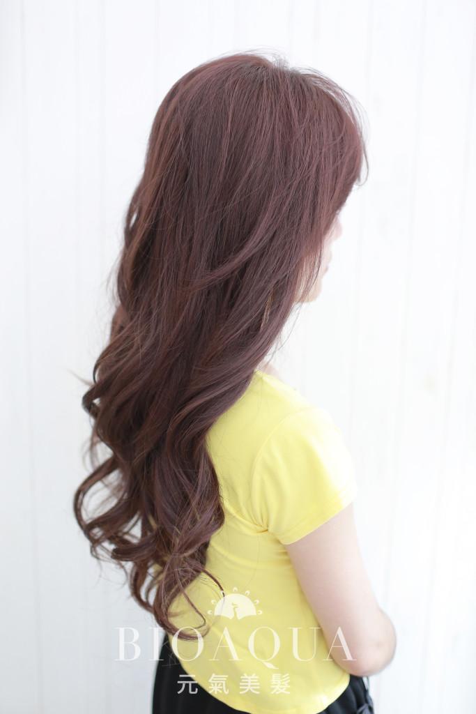 粉霧感紫咖啡色 台中染髮推薦 - 台中髮廊 元氣美髮