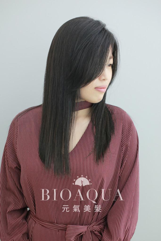 深綠灰棕色+資生堂水質感直髮燙 - 台中髮廊 元氣美髮