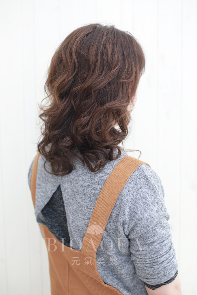 Q彈水潤蓬鬆捲髮 by 資生堂水質感 - 台中髮廊 元氣美髮