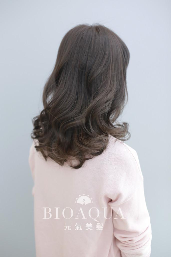 霧感灰棕髮色 台中染髮推薦 - 台中髮廊 bioaqua元氣美髮
