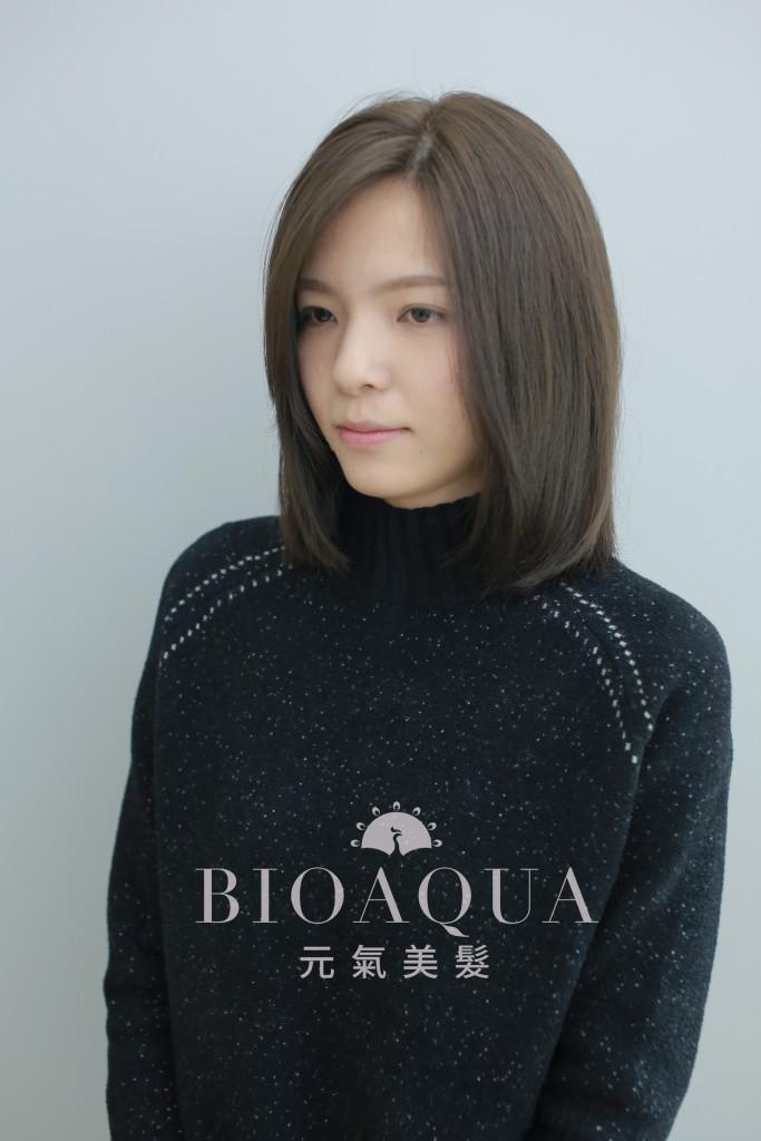 粉霧灰棕色LOB - 台中髮廊 燙髮推薦 bioaqua元氣美髮